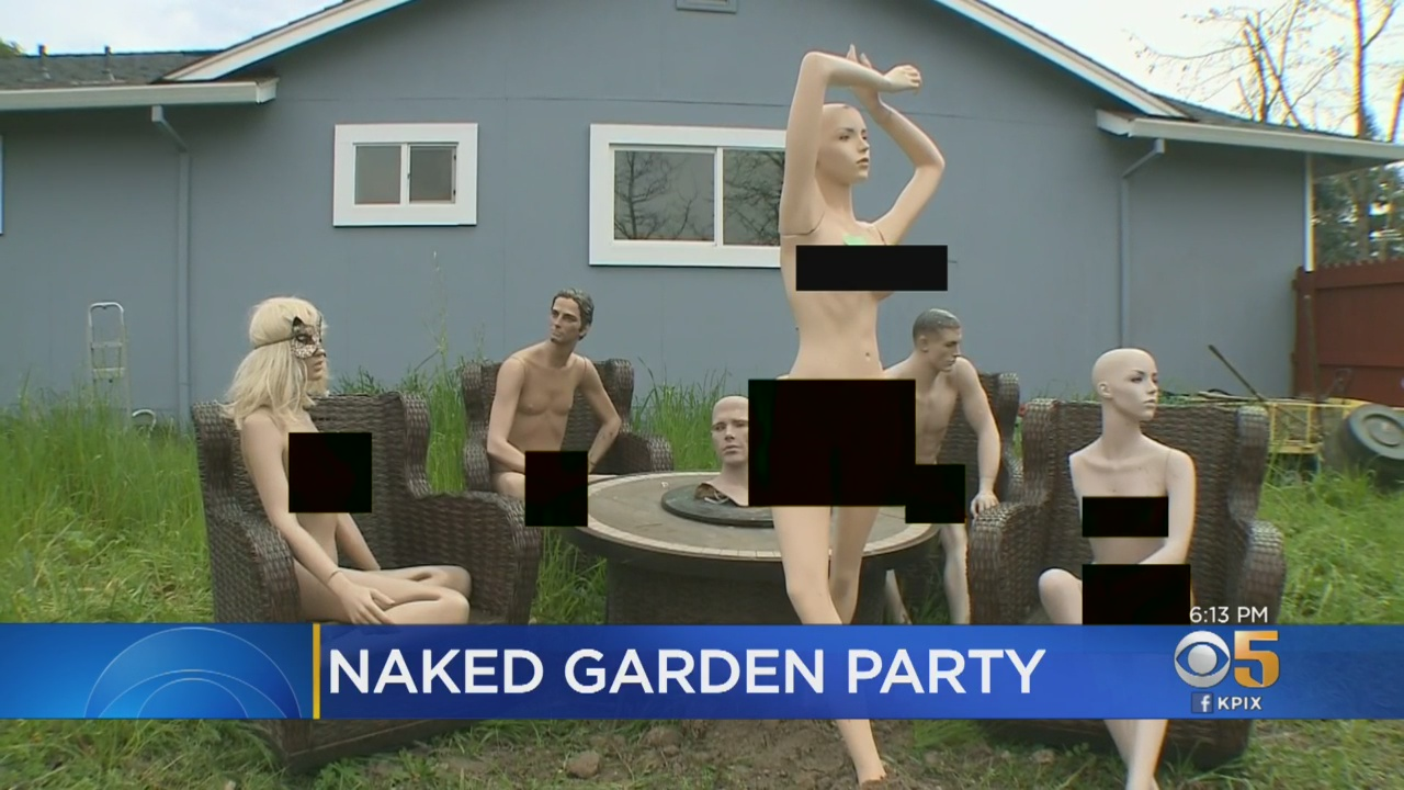 Man Forced To Shorten Fence Gets Revenge With Naked Mannequins