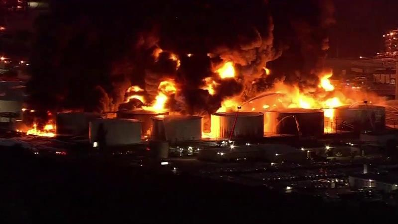 A Chemical Site In Texas Has Been On Fire For Days, But Air Quality Is Safe, Officials Say