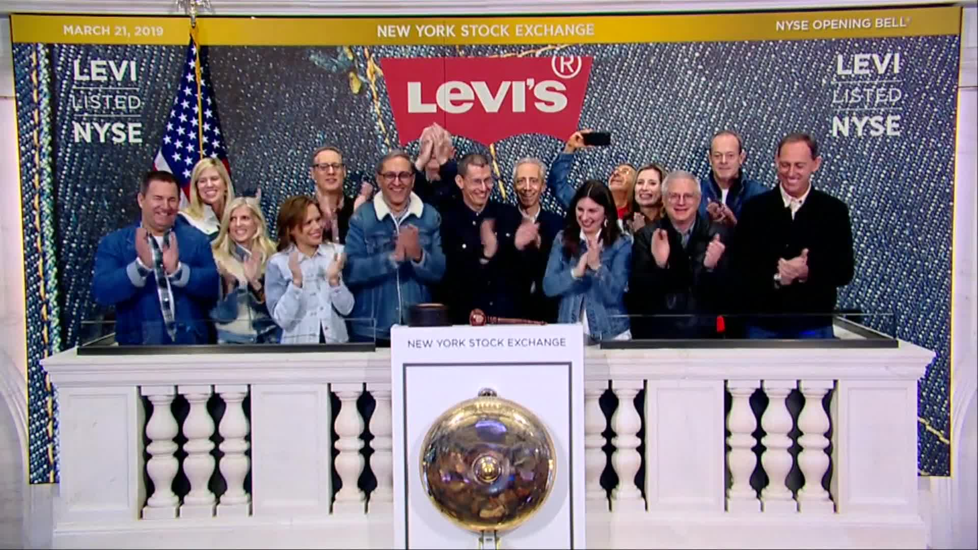 Politics - Levi Strauss Shares Surge Over 30% In Market Debut