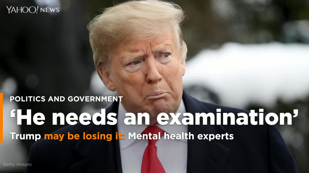 Psychiatrists Say Mueller Report Offers More Proof Of Trump's Mental Decline