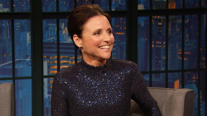 Julia Louis-Dreyfus' son Charlie, 21, joins her on 'Late Night with Seth Meyers': Watch