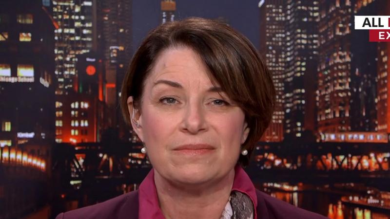 Amy Klobuchar Says Trump Impeachment Proceedings Are 'Up To The House'