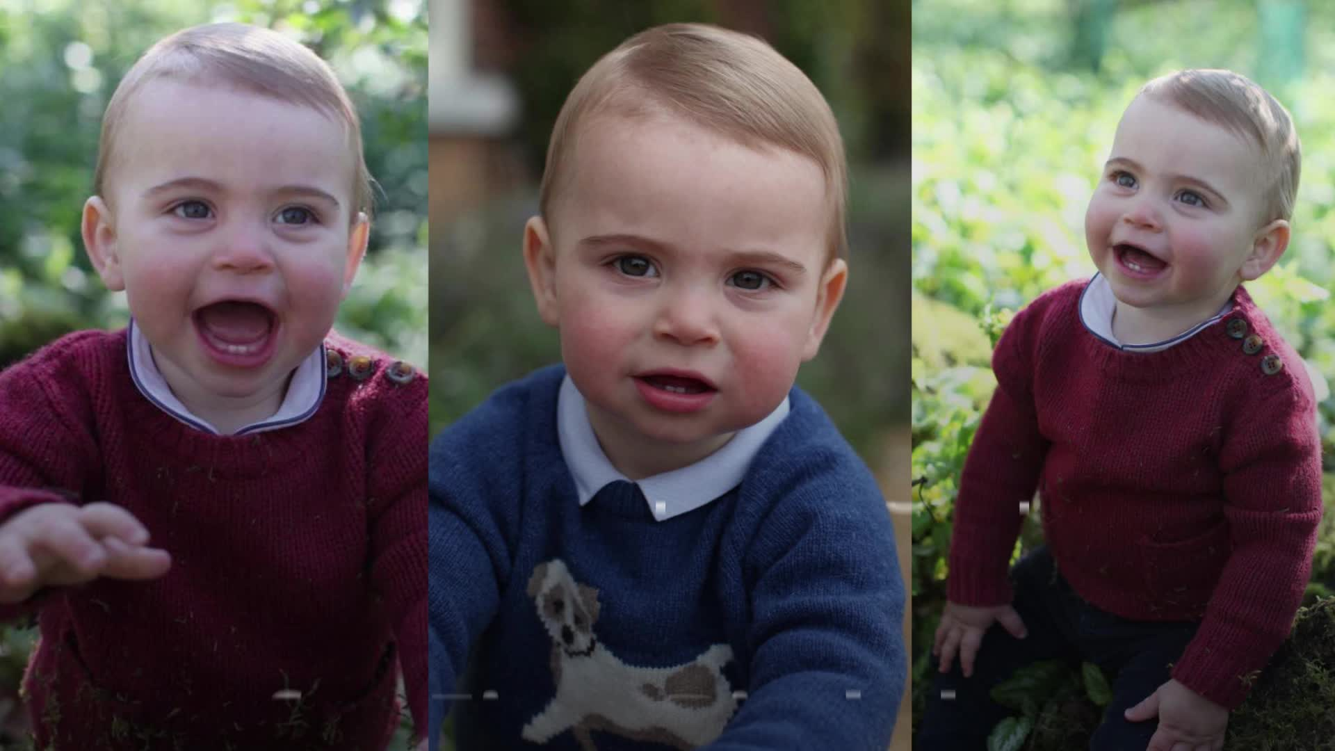 Kate Middleton and Prince William release three new photos of Prince Louis ahead of his first birthday