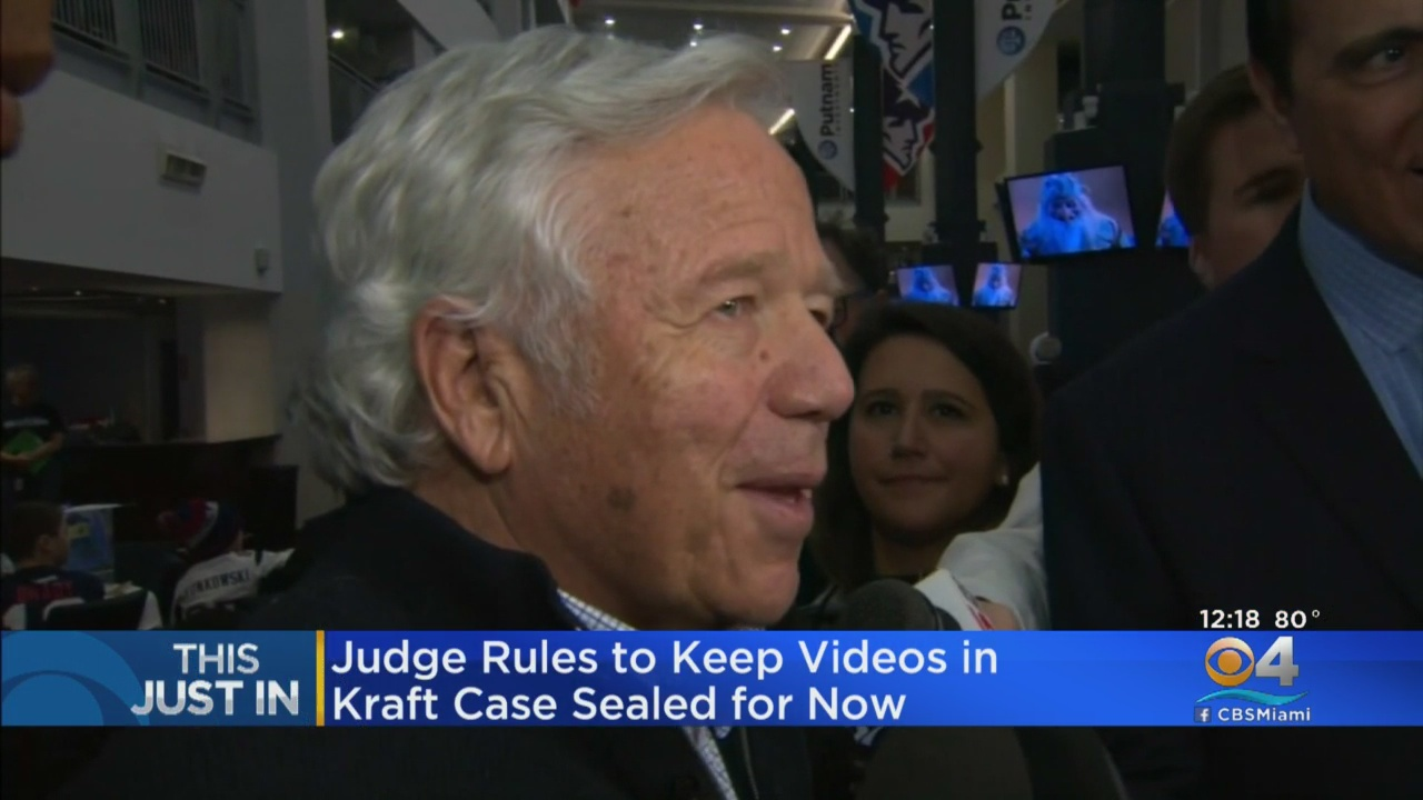 Judge: Public can't see Kraft videos yet