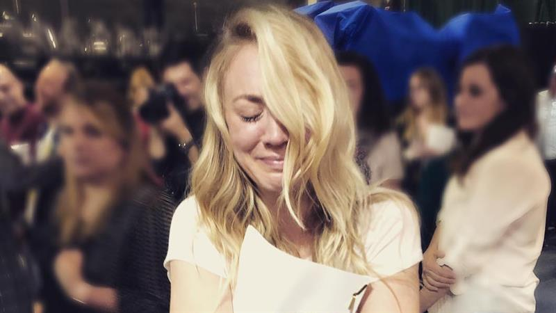 Kaley Cuoco Shares Emotional Photos From Final 'Big Bang Theory' Table Read