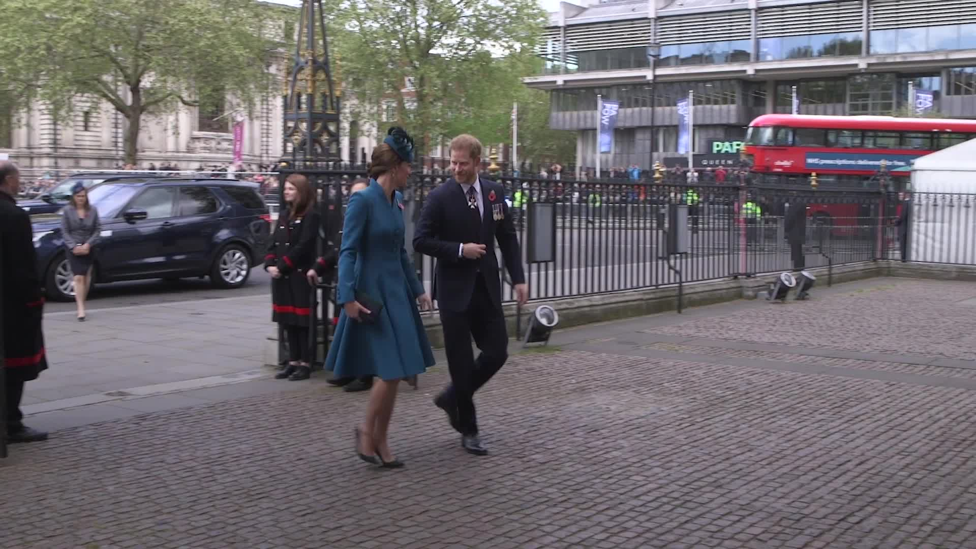 Kate Middleton glows in blue Catherine Walker for Anzac Day