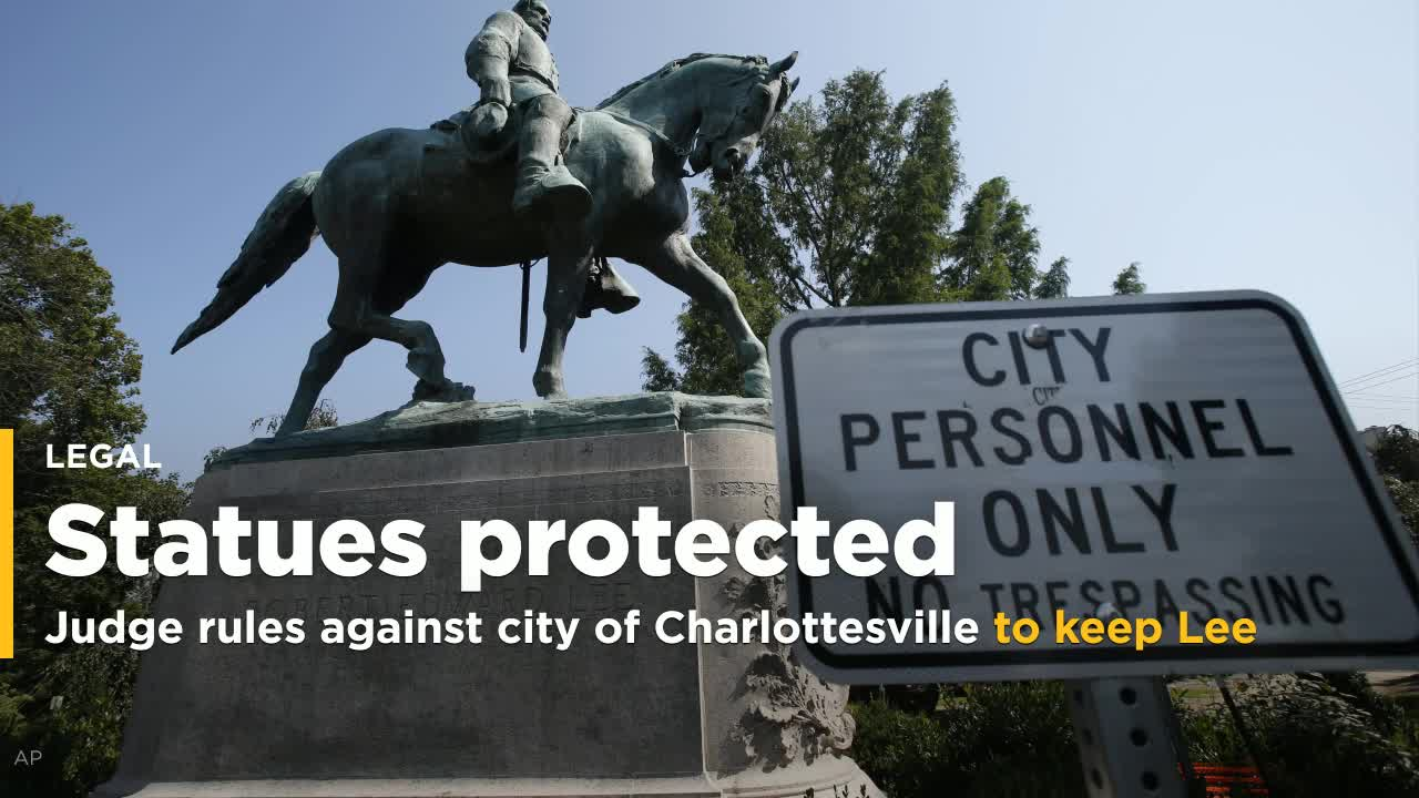 Removal Of Confederate Statues Blocked By Charlottesville Circuit Court Judge