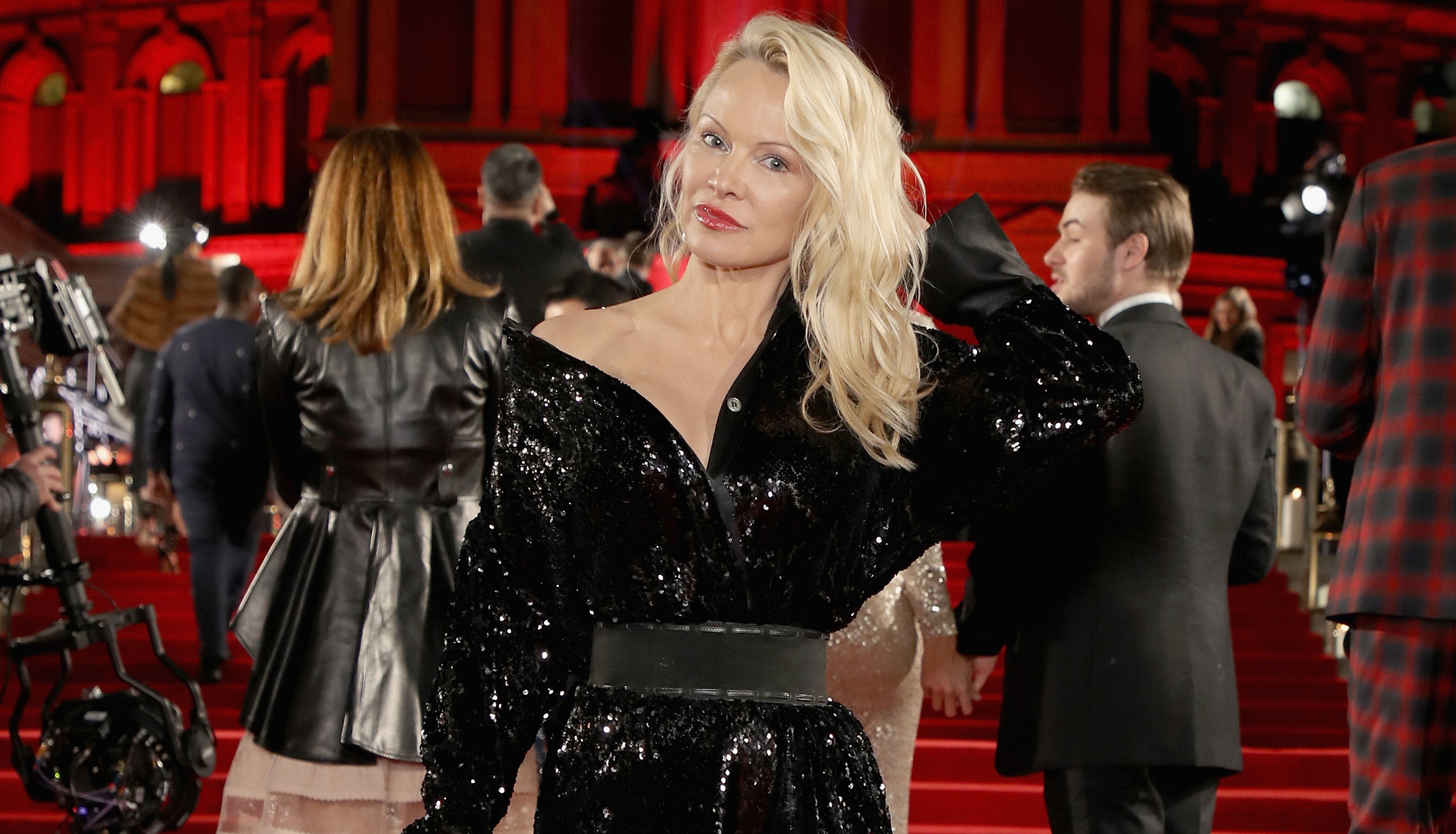 Pamela Anderson calls out Trump in rant about social media bullies: 'A horrible example of self restraint'