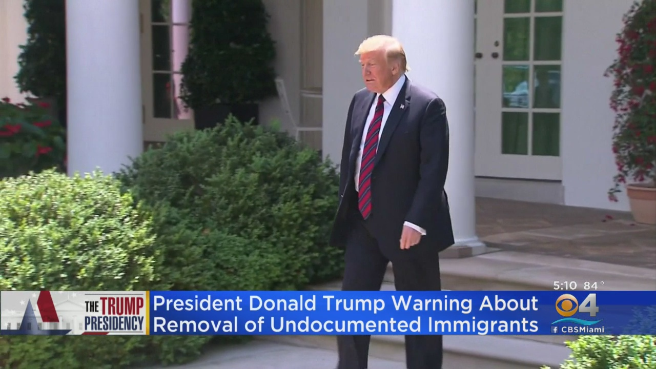 Trump Says ICE Will Begin 'Removing Millions Of Illegal Aliens' Next Week