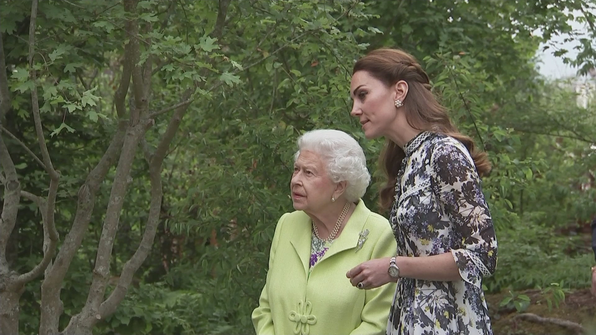 The Queen paid tribute to Meghan Markle and Prince Harry while visiting Kate Middleton's garden