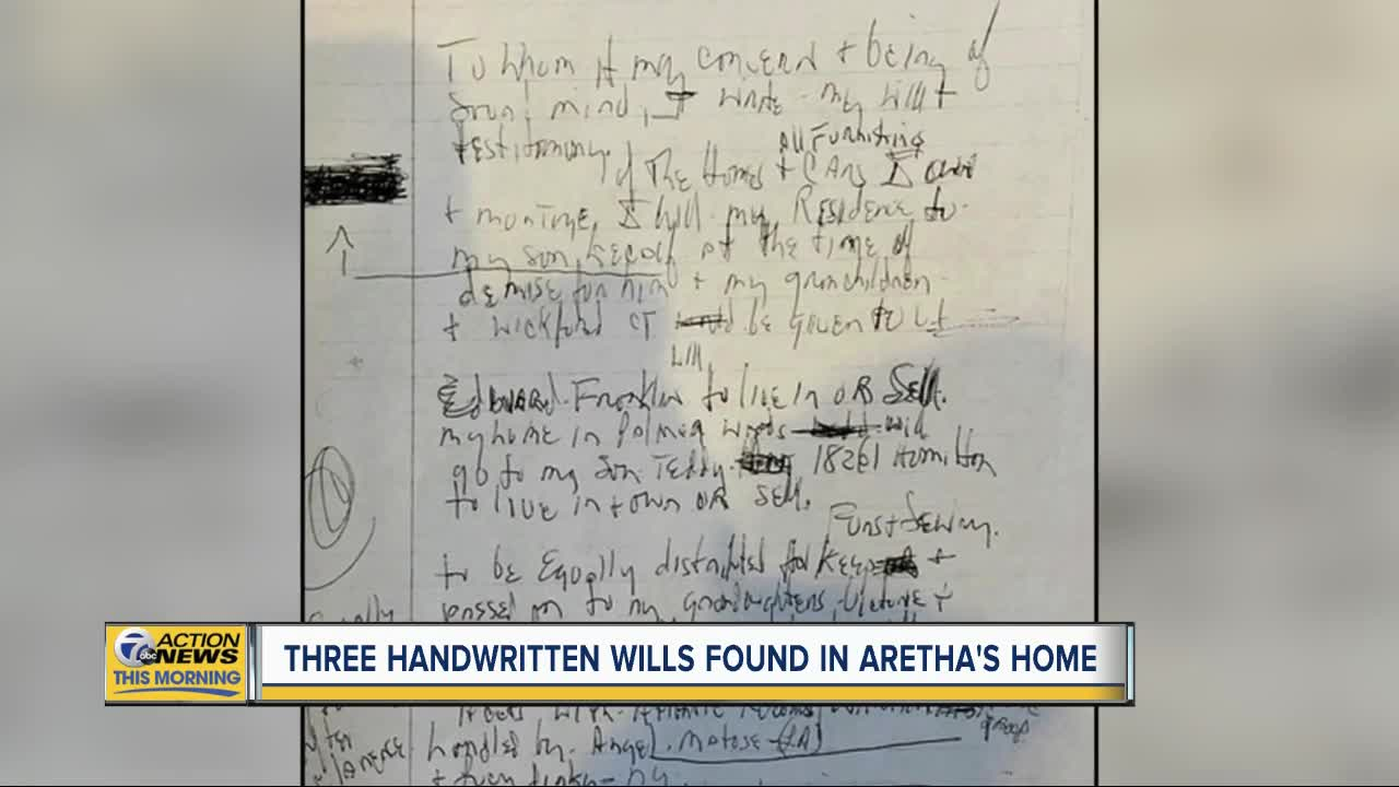 3 Handwritten Wills Discovered In Aretha Franklin's Home