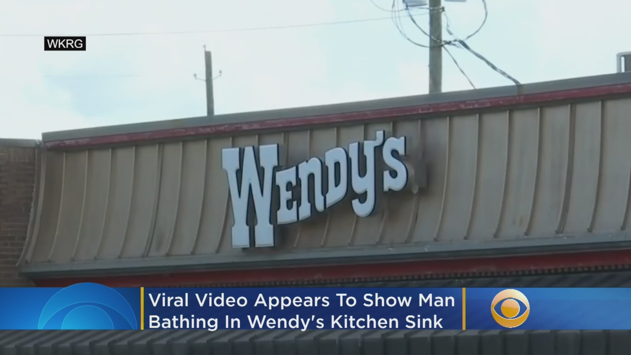 Man bathes in Wendy's kitchen sink in viral video