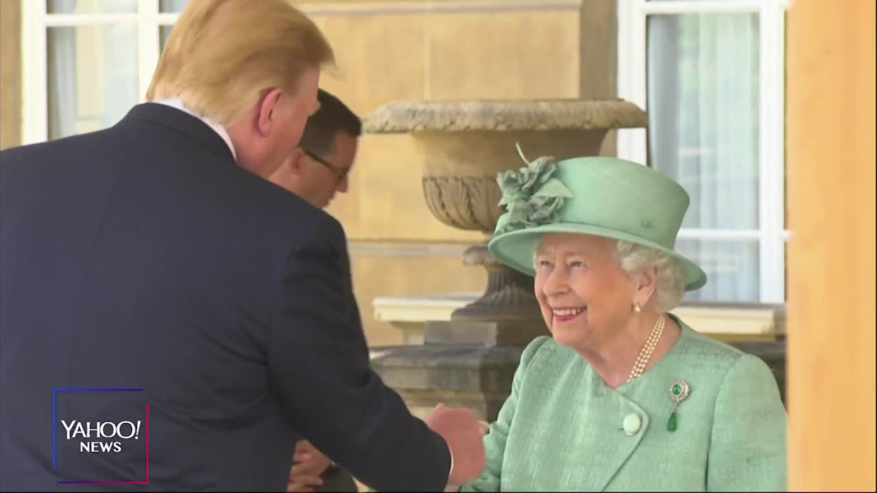 Colbert Reveals What's Really Going On In Bizarre Images Of Trump's Royal Visit