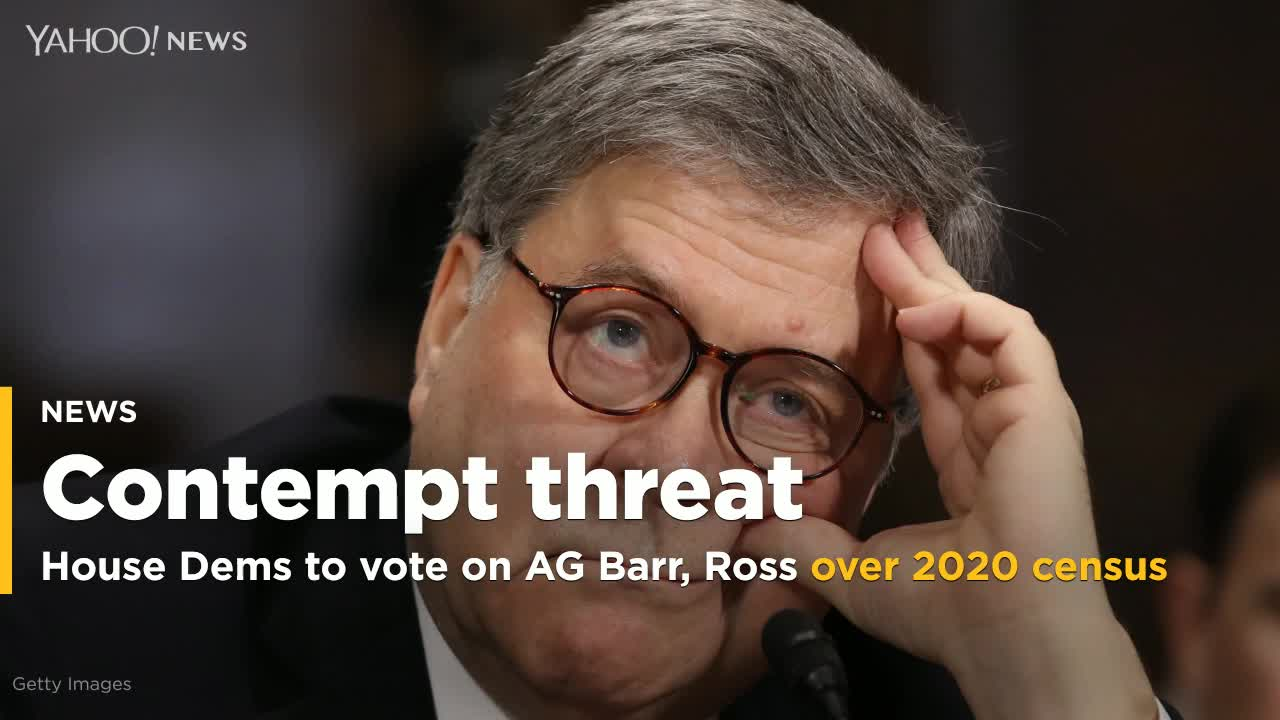 House Votes To Hold William Barr And Wilbur Ross In Contempt In Census Dispute
