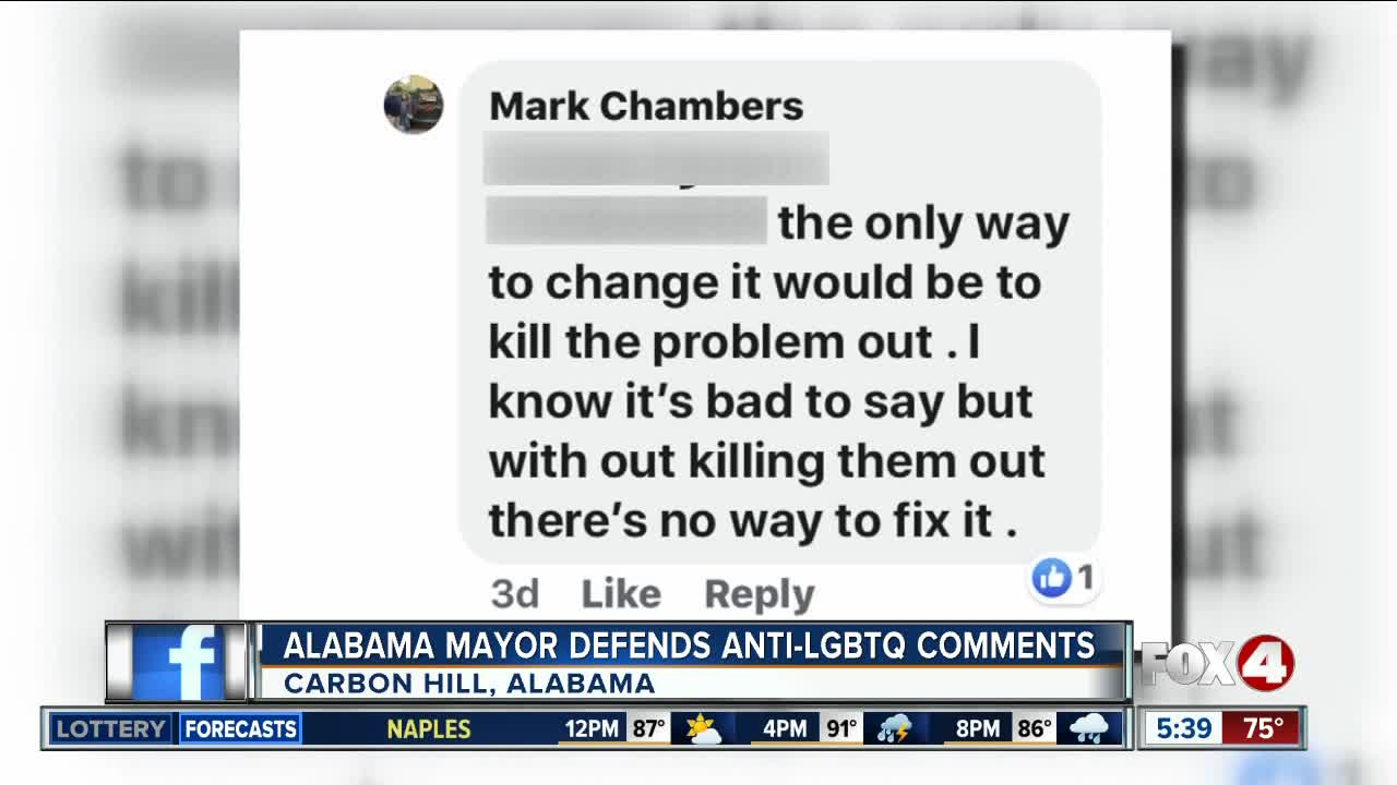 Alabama Mayor Who Called For 'Killing' LGBTQ People Won't Resign