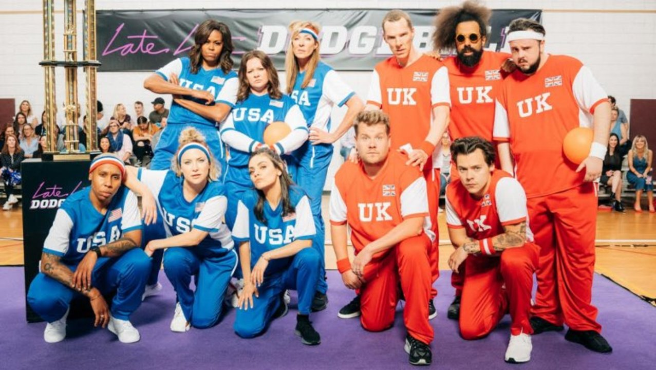 Michelle Obama Inspires Team USA To Dodgeball Glory Over James Corden