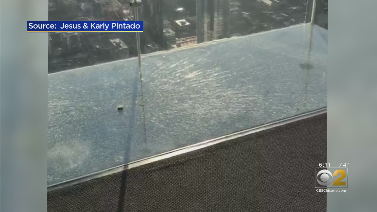 Protective layer of skydeck at Willis Tower cracks under visitors' feet
