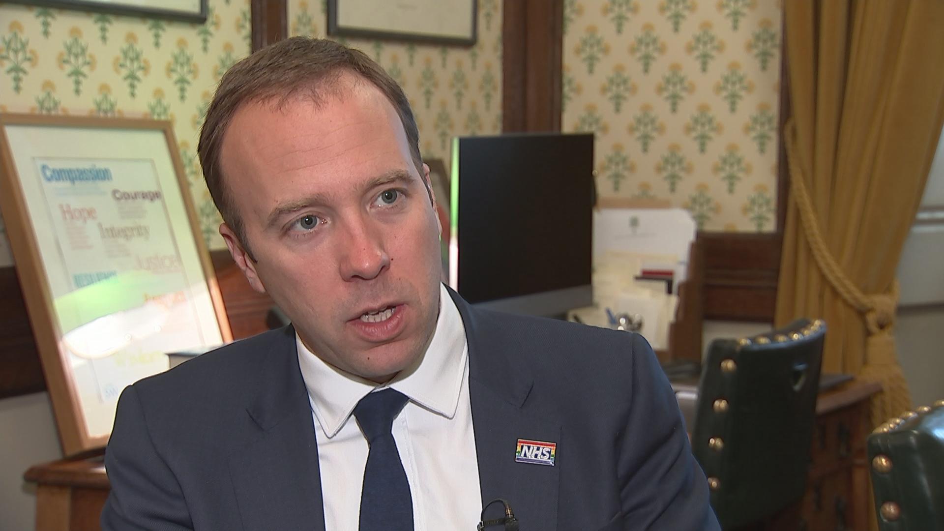 Matt Hancock Backs Boris Johnson In Leadership Race