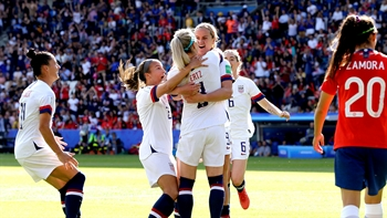 USWNT rests starters, beats Chile in Women's World Cup