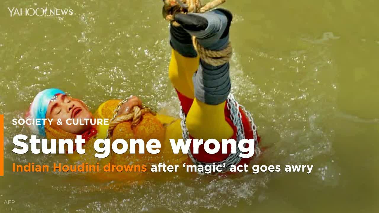 Indian 'Houdini' Chanchal Lahiri dies during botched underwater magic trick