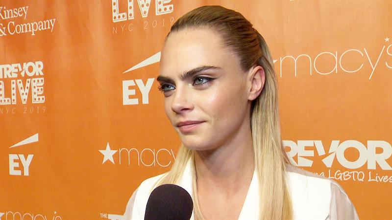 Cara Delevingne and Ashley Benson step out in NYC for the TrevorLIVE Gala