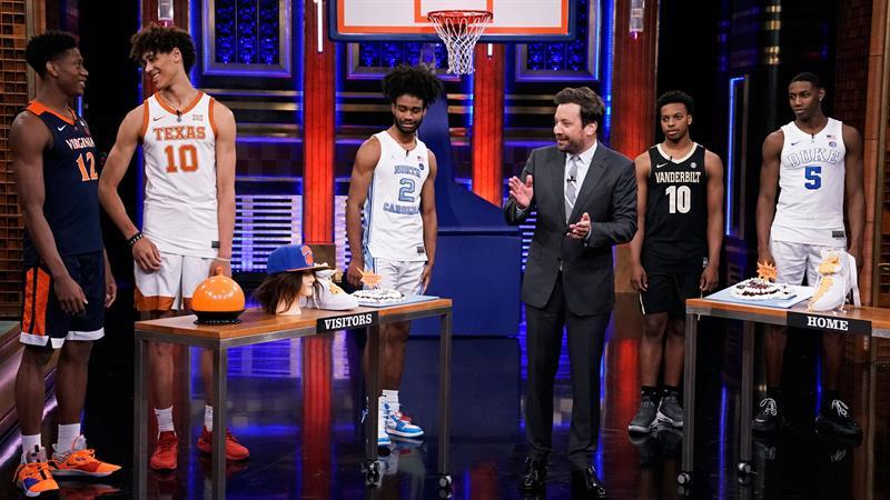 NBA Draft Prospects Shoot Ice Cream Cake And Nachos On 'Tonight Show'