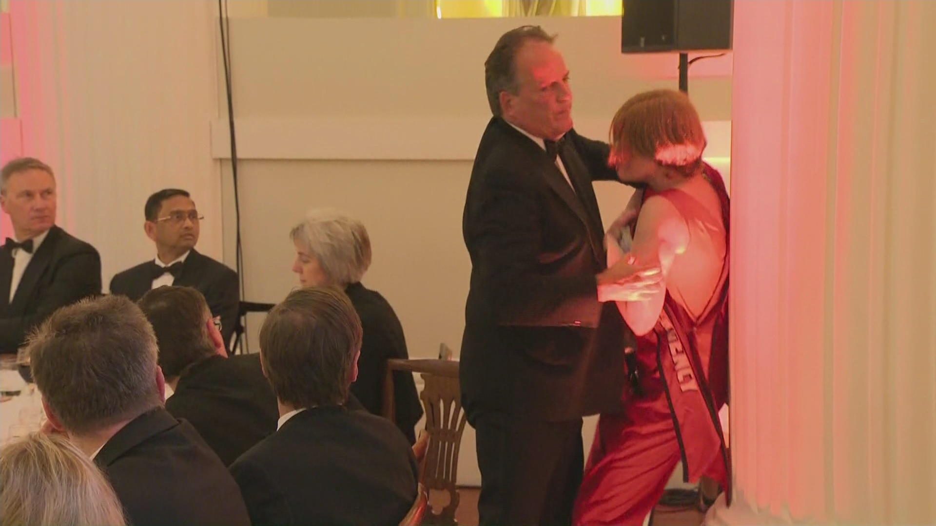 Tory MP Mark Field Filmed Grabbing Climate Protester Who Interrupted Philip Hammond's Speech