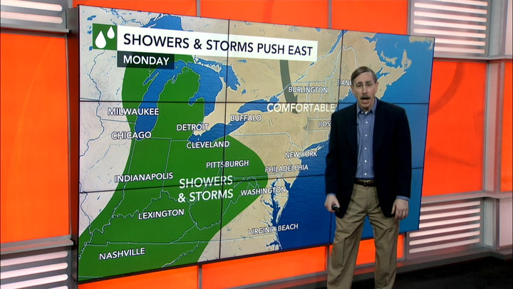 Heat to finally build into mid-Atlantic, Northeast this week