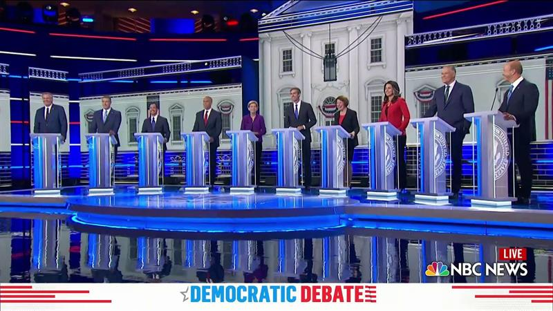 NBC's Democratic Debate Was Interrupted By A Major Technical Glitch