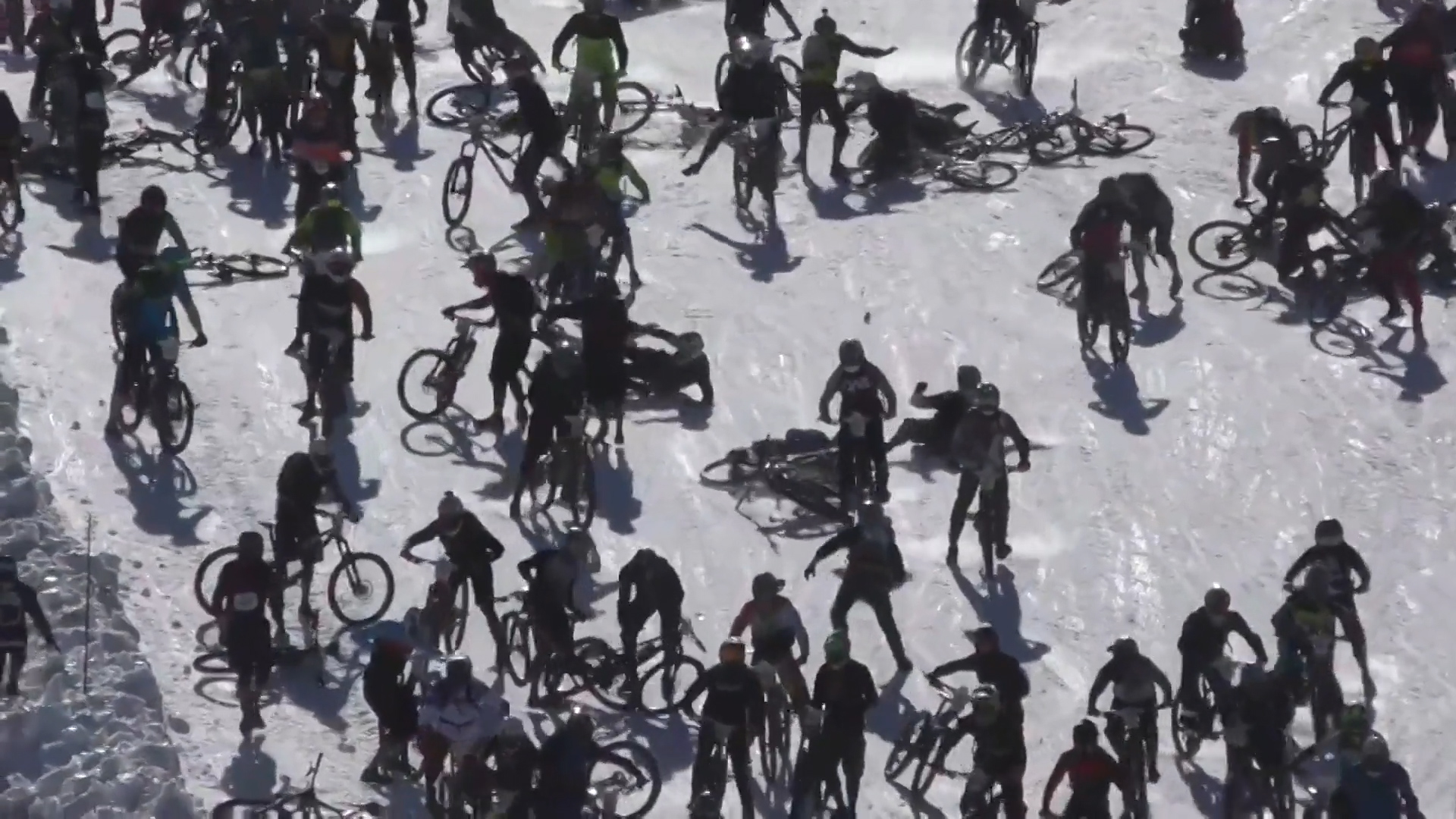 Turns Out Racing Down A Glacier On Bikes Is A REALLY Bad Idea