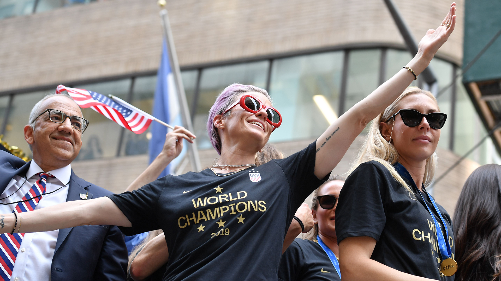 Ashlyn Harris Says 'Pay Us, Bitch' While Allie Long Eats Page Of USWNT Lawsuit