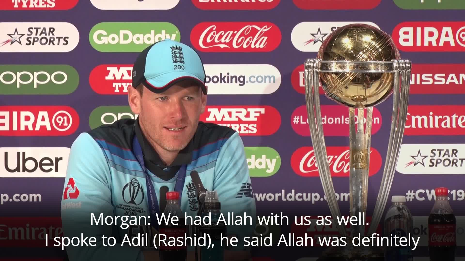 'We Had Both Allah And Irish Luck With Us': Eoin Morgan After England's World Cup Win