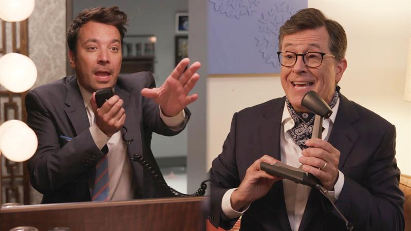 Jimmy Fallon, Stephen Colbert Spoof That 'Stranger Things' Duet