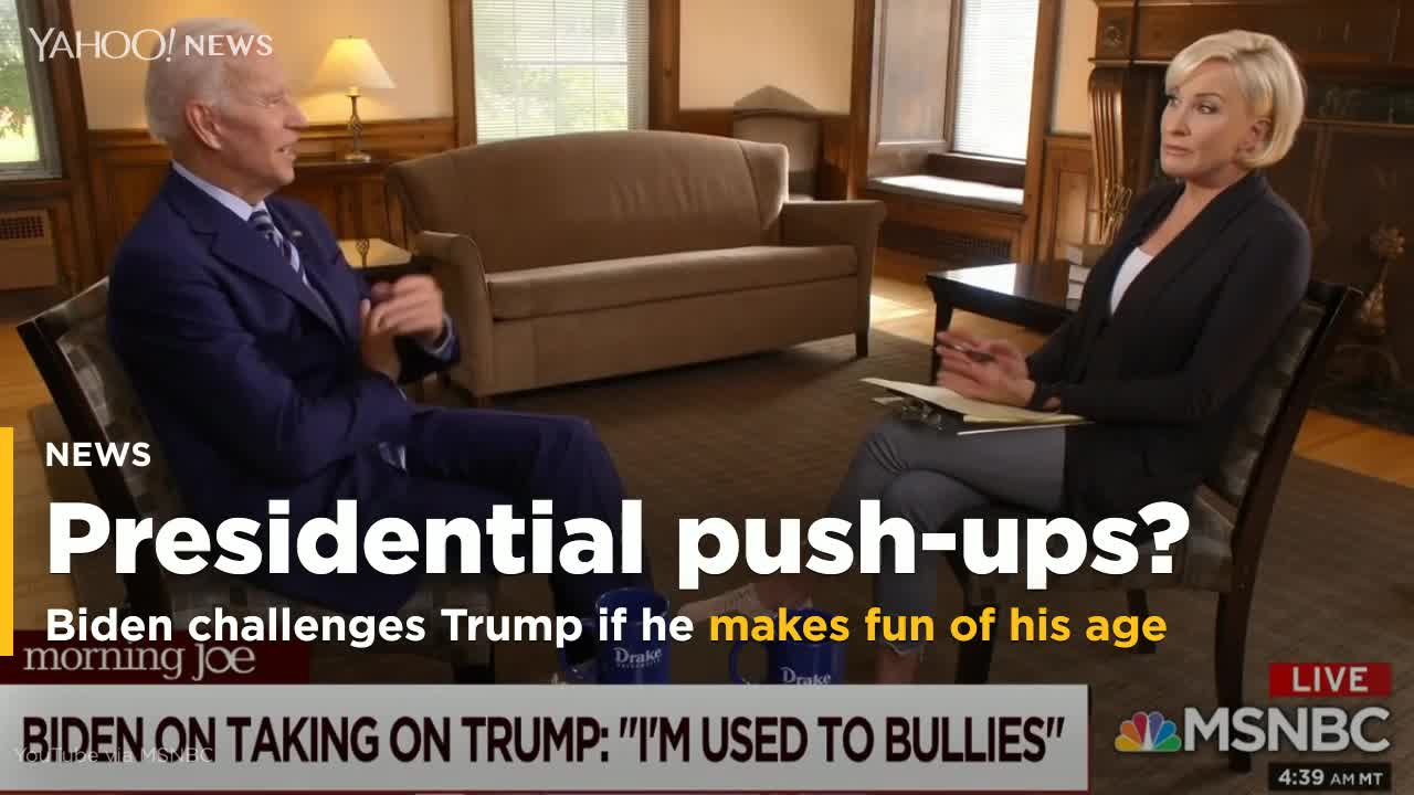 Biden Says He Will Challenge Trump To Push-Up Contest On Debate Stage If Mocked