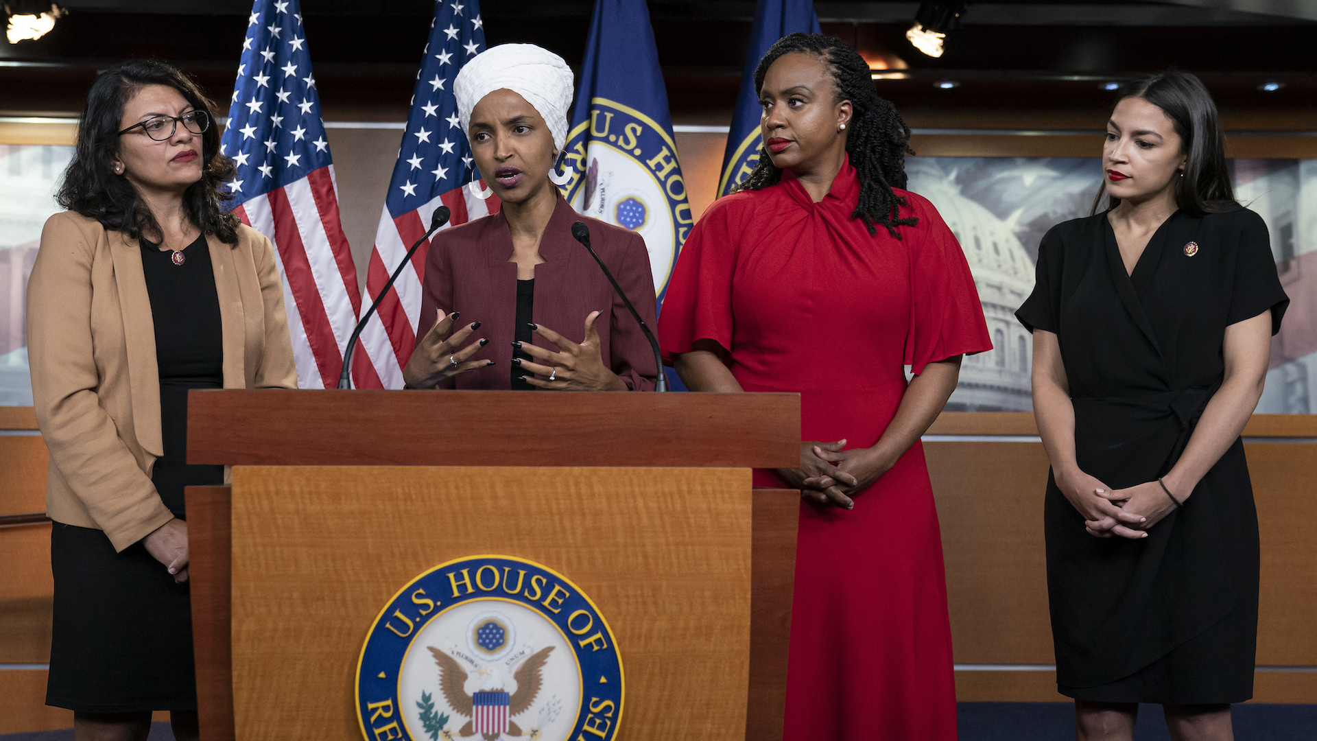 Trump Lies About Congresswomen Of Color Referring To 'Evil Jews'