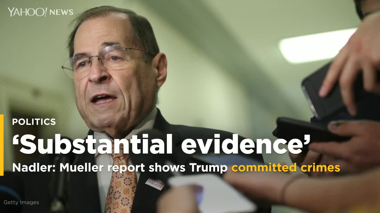 Nadler: Mueller Hearing To Air Evidence Of Trump Wrongdoing