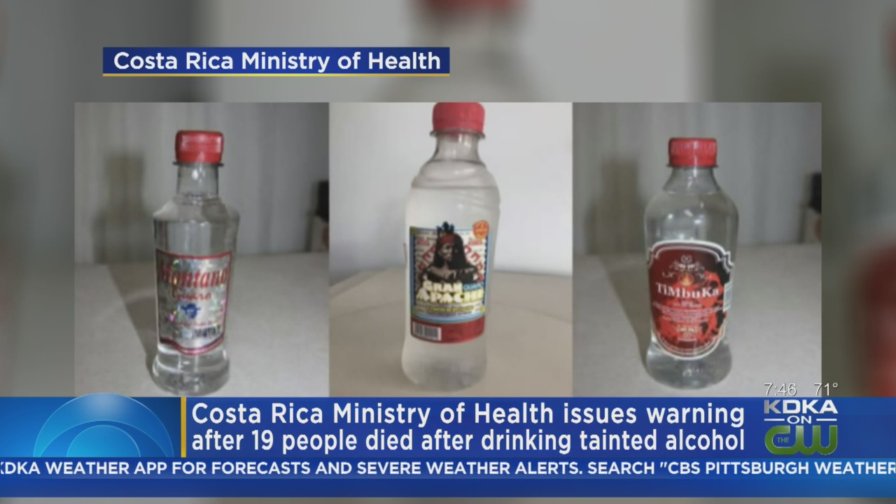 Costa Rica Blames Tainted Alcohol For 19 Deaths, Warns Of Counterfeit Products