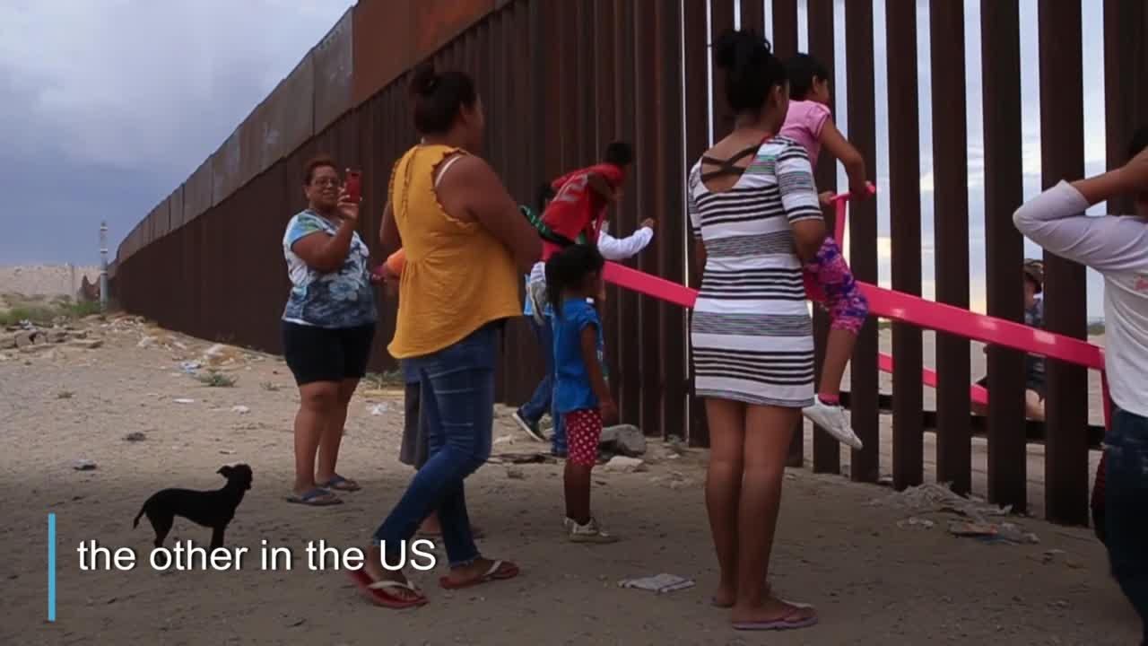 These Seesaws Were Built Across The U.S.-Mexico Border To Let Children Play Together