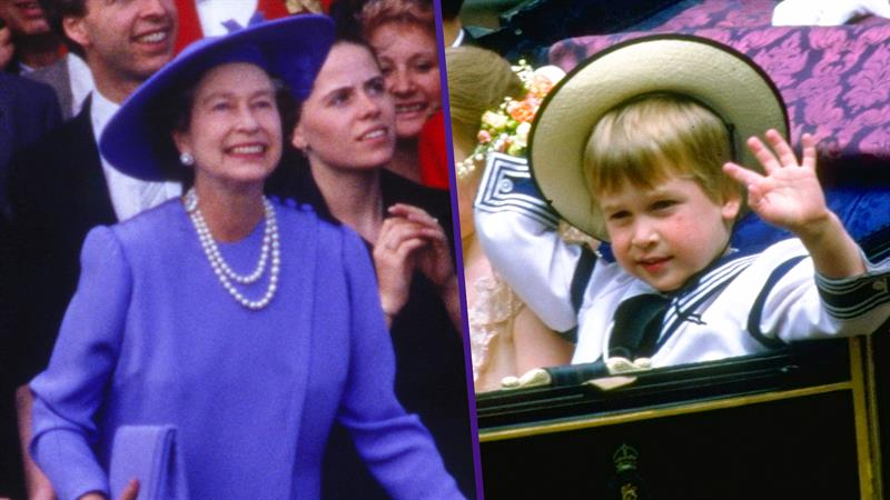 Adorable clip of Queen Elizabeth chasing after Prince William 33 years ago goes viral