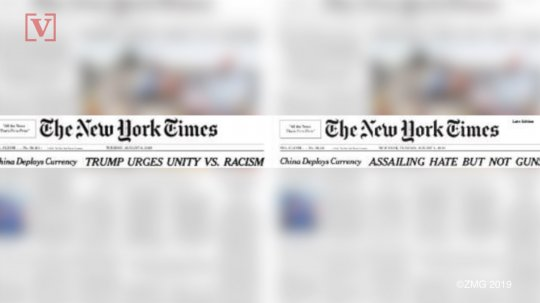 Donald Trump Lashes Out At New York Times Over Headline Change