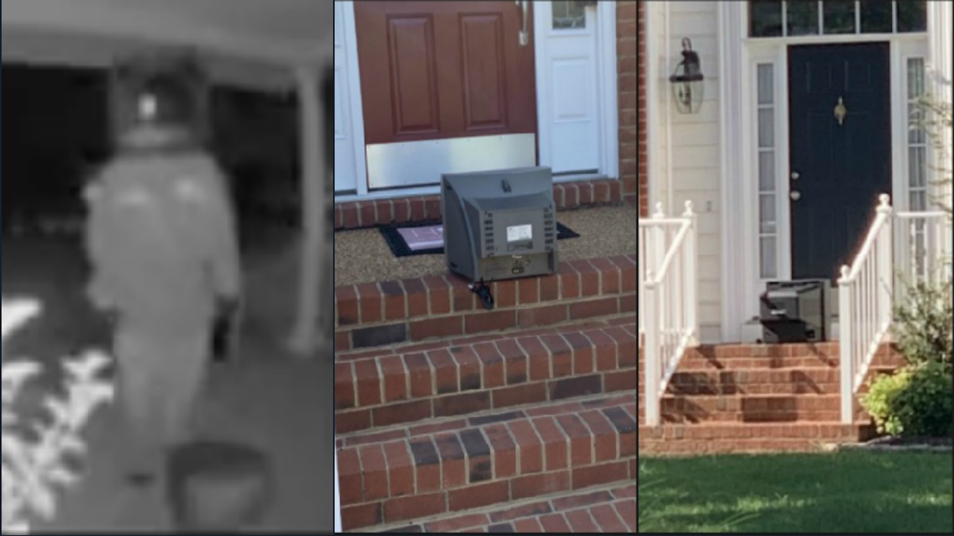 Person Wearing TV Torments Virginia Town By Leaving TVs On Porches
