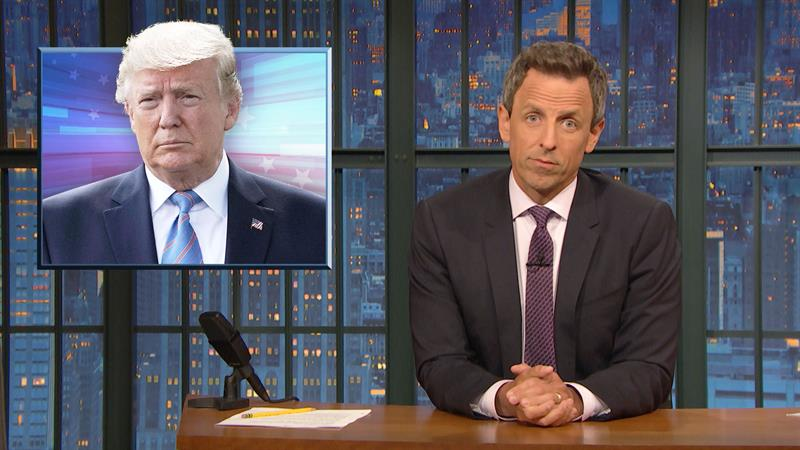 Seth Meyers Dissects Donald Trump's Long History Of Spreading Conspiracy Theories