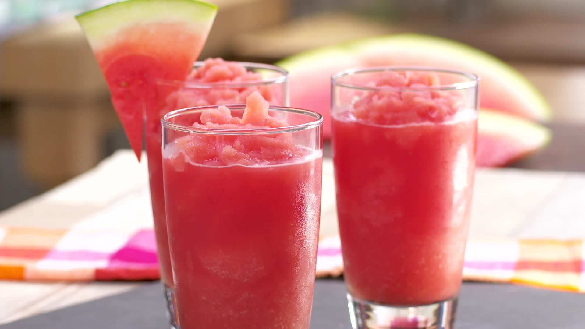 Keep summer going with these watermelon lemonade slushies