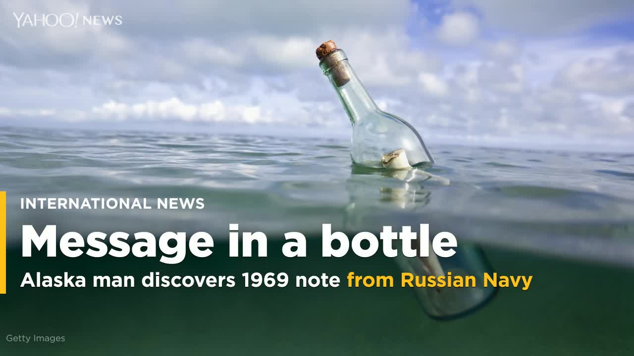 Perfectly Preserved Message In A Bottle From Cold War Russian Sailor Washes Up In Alaska