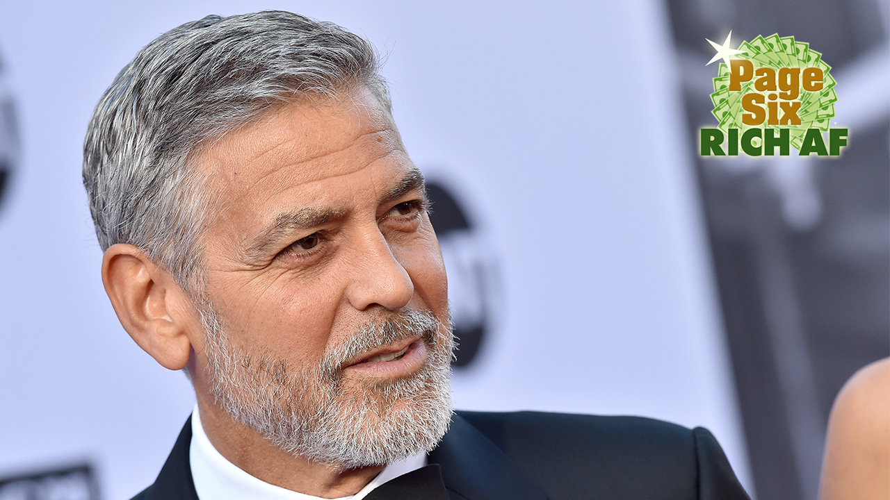 George Clooney debuts new beard in London: Photos!