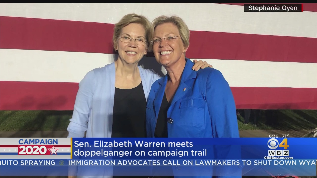 Elizabeth Warren met her doppelgänger at a Minnesota rally and people cannot tell the difference