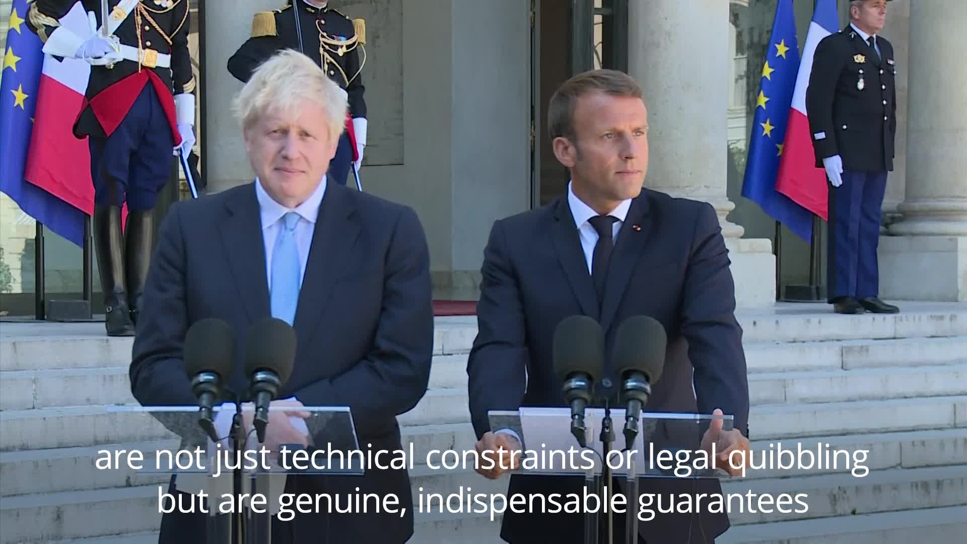 Emmanuel Macron Warns Boris Johnson Of 'Indispensable' Irish Backstop Amid New Brexit Deal Hopes