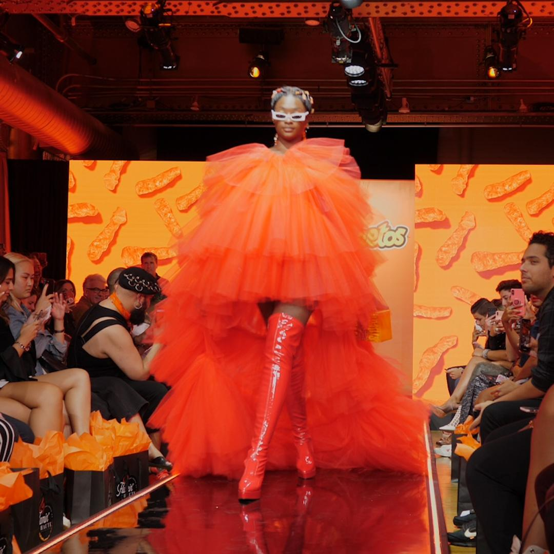 Cheetos hosted a fashion show at NYFW and the looks were 'flamin' haute'