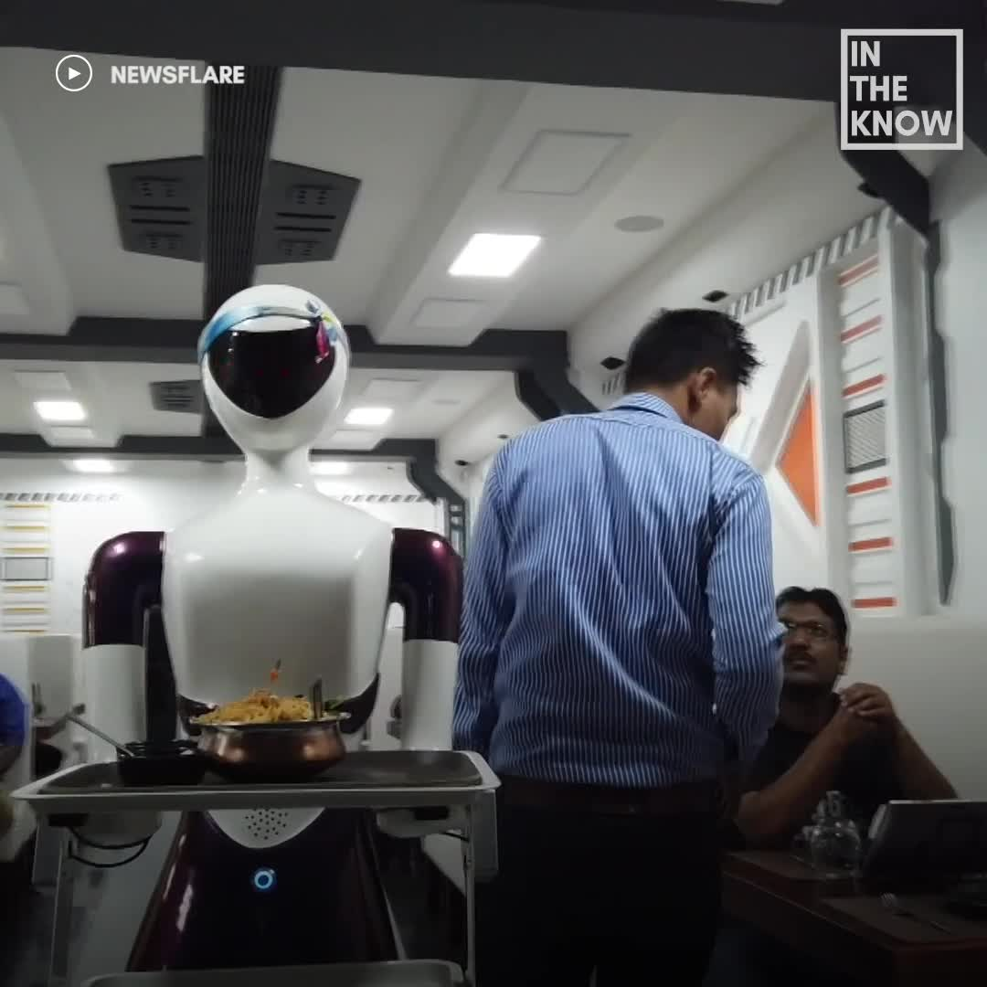 At This Indian Restaurant, Food Is Served By Robots