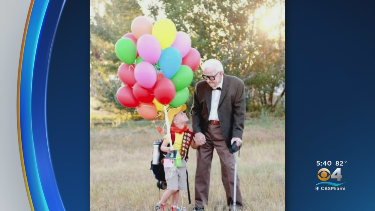Great Grandparents Dress As 'Up' Characters For 5-Year-Old's Birthday Photos
